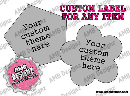 Custom Label Party Supplies