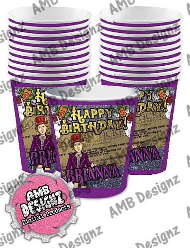 Willy Wonka Party Cups Party Supplies