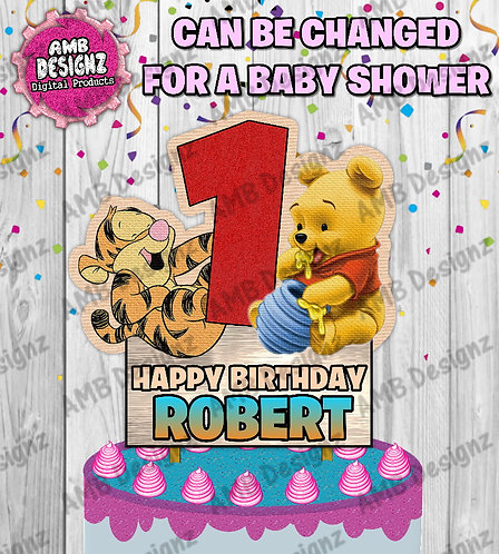 Winnie the Pooh Cake Topper Centerpiece - Winnie the Pooh Party Supplies