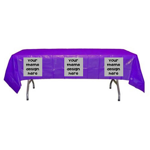 Tablecloth Image Sticker - Tablecloth Party Supplies