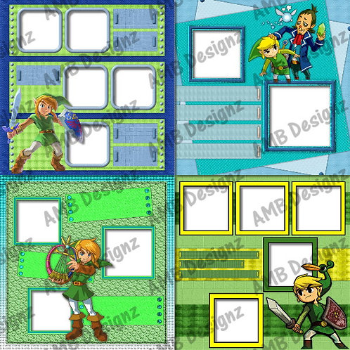 Zelda Digital Scrapbooking Premade Album/Pages