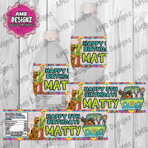 Scooby Doo Water Bottle Wrapper - Scooby Doo Party Supplies