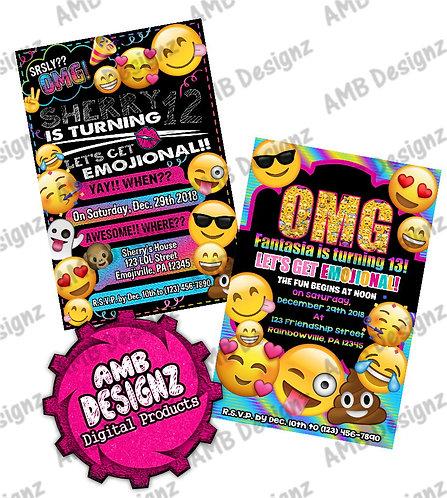 Emoji Invitations - Emoji Party Supplies