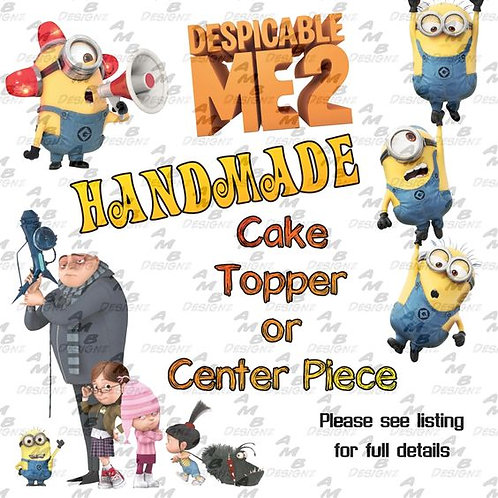 Despicable Me Minion Cake Topper Centerpiece