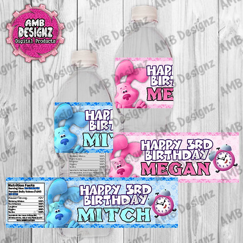 Blues Clues Water Bottle Wrapper - Blues Clues Party Supplies