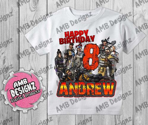 Apex Legends T-Shirt Birthday Image - Apex Legends Party Supplies