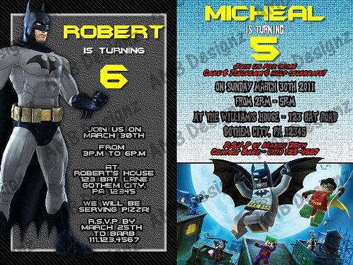 Batman Custom Digital Invitation