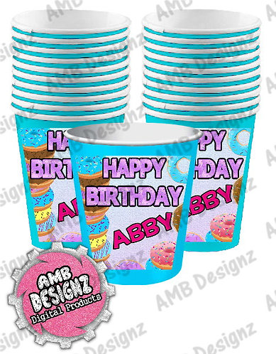Donut Shop Party Cups Party Supplies