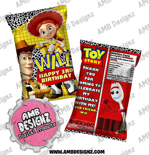 Toy Story Chip Bag Party Favor - Toy Story Party Supplies