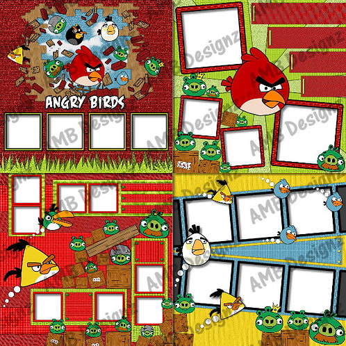 Angry Birds Digital Scrapbooking Premade Album/Pages Set 2