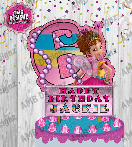 Fancy Nancy Cake Topper Centerpiece