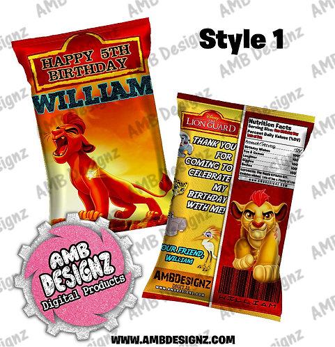 Lion Guard - Lion King Chip Bag Favor - Lion Guard Party Supplies