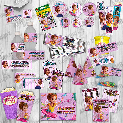Fancy Nancy Party Supplies Cake Topper