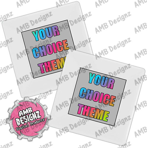 Custom Theme Party Plates - Custom Theme Party Supplies