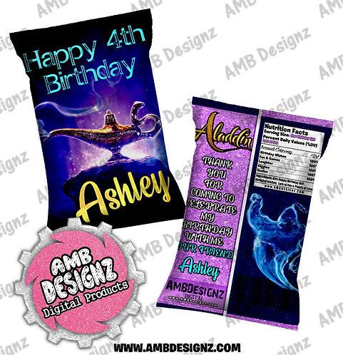 Aladdin Chip Bag Party Favor - Aladdin Party Supplies