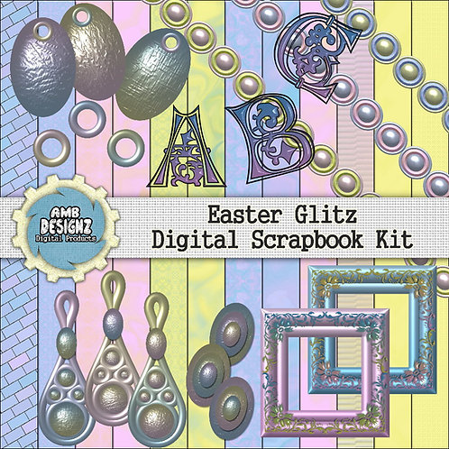 Easter Glitz Digital Scrapbooking Kit