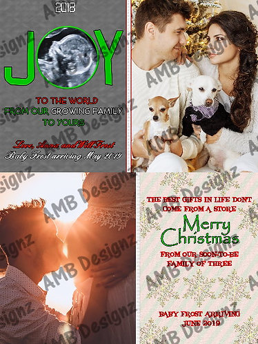Pregnancy Announcement Christmas Greeting Card