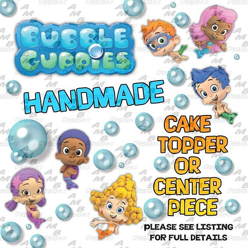 Bubble Guppies Cake Topper Centerpiece