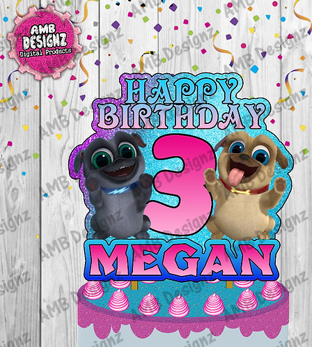 Puppy Dog Pals Cake Topper Centerpiece - Puppy Dog Pals Party Supplies