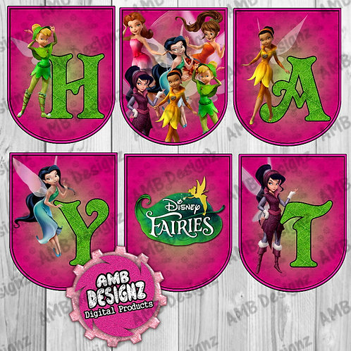 Tinkerbell Fairies Party Banner -  Tinkerbell Fairies Party Supplies