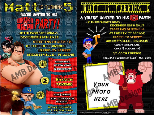 Wreck-it-Ralph Custom Digital Invitation