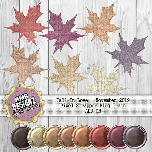 Fall In Love Scrapbooking Elements