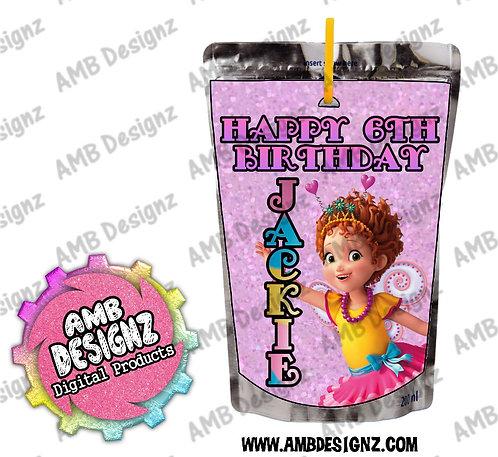 Fancy Nancy Juice Pouch Label - Fancy Nancy Party Supplies