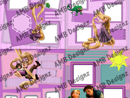 Disney's Tangled (Rapunzel) Digital Scrapbooking Premade Album