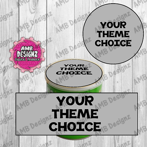 Custom Pringles Can Labels - Custom Party Supplies