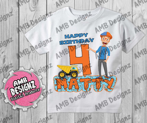 Blippi T-Shirt Birthday Image - Blippi Party Supplies