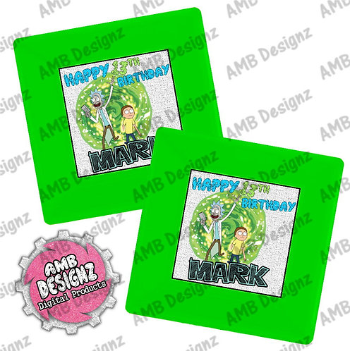 Rick & Morty Party Plates - Rick & Morty Party Supplies