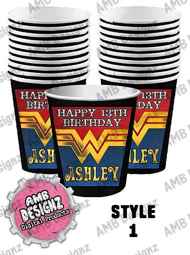 Wonder Women Party Cups - Wonder Women Party Supplies