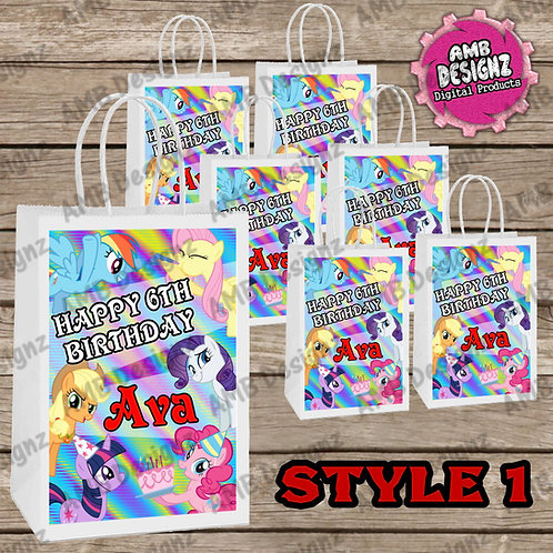 My Little Pony Favor Bag Label Party Supplies - My Little Pony Party Supplies