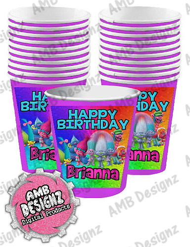 Trolls Party Cups Party Supplies