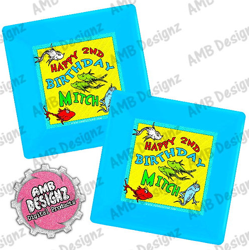 Dr. Seuss 1 Fish 2 Fish Party Plates Party Supplies