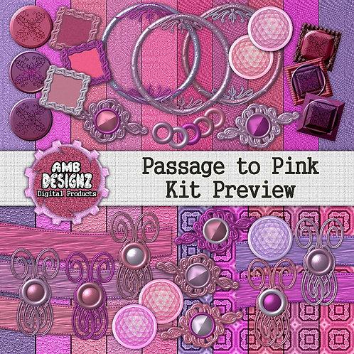 Passage to Pink Digital Scrapbooking Kit
