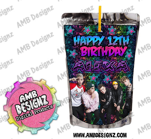 Why Don't We Capri-Sun Juice Pouch Label - Why Don't We Party Supplies