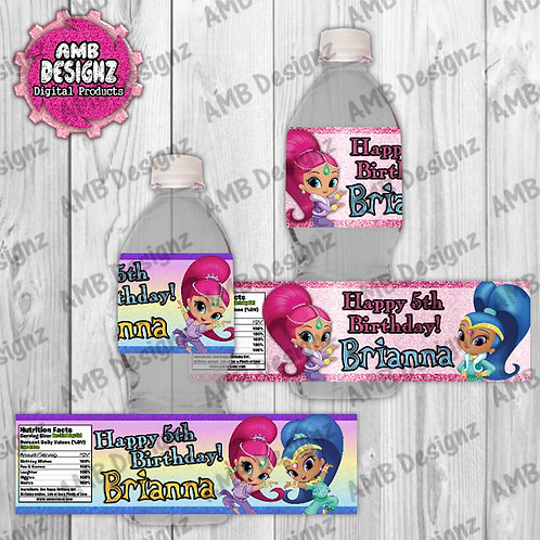 Shimmer and Shine Water Bottle Wrap - Shimmer and Shine Party Supplies