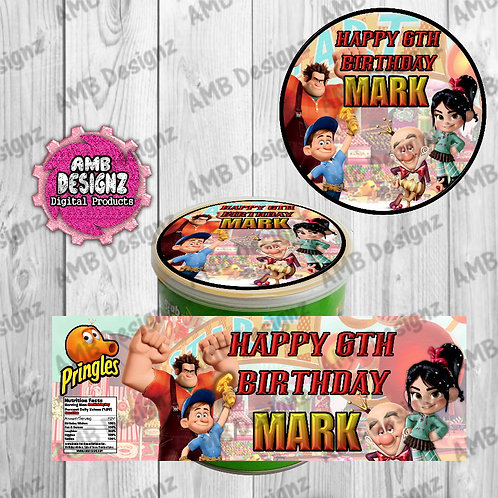 Wreck it Ralph Pringles Can Labels - Wreck it Ralph Party Supplies