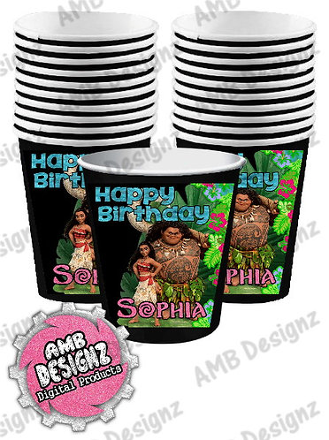 Moana Party Cups Party Supplies