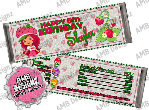 Strawberry Shortcake Candy Bar Wrap, Strawberry Shortcake Party Supplies