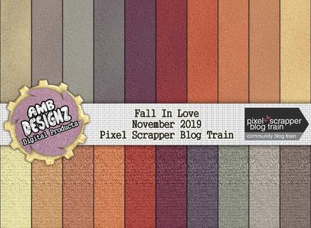 Fall In Love - November 2019 PixelScrapper Blog Train