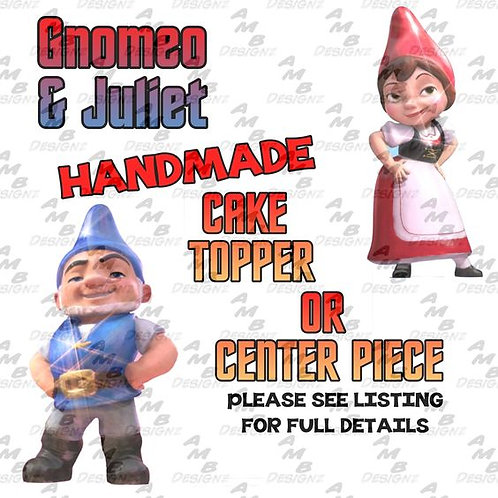 Gnomeo and Juliet Cake Topper Centerpiece