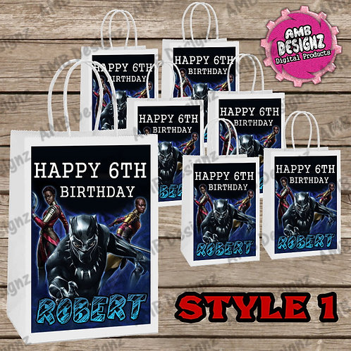 Black Panther Favor Bag Label Party Supplies - Black Panther Party Supplies
