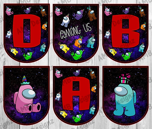 Among Us Party Banner -  Among Us Party Supplies