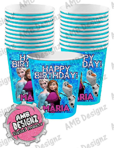 Frozen Party Cups Party Supplies