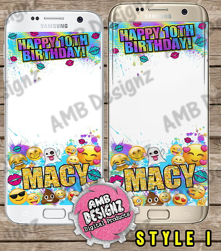 Emoji Snapchat Filter - Emoji Party Supplies
