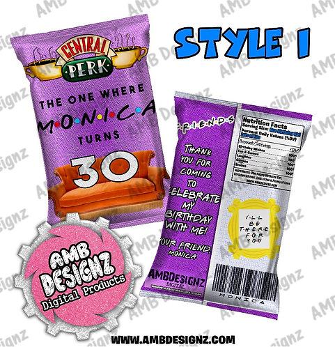 Friends Chip Bag Favor - Friends Party Supplies
