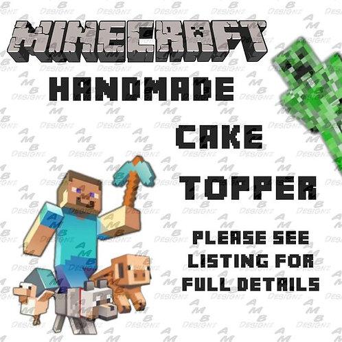 Minecraft Cake Topper Centerpiece