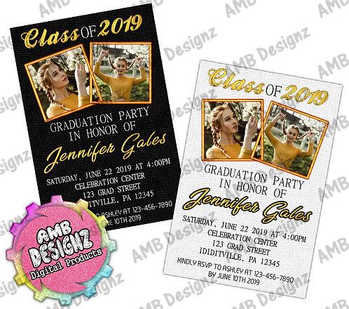 Class of Photo Graduation Invitations - Graduation Party Supplies